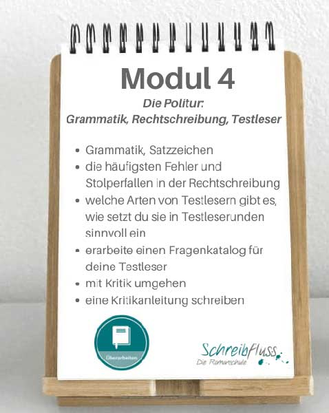 Modul 4 - Romane Überarbeiten Kurs